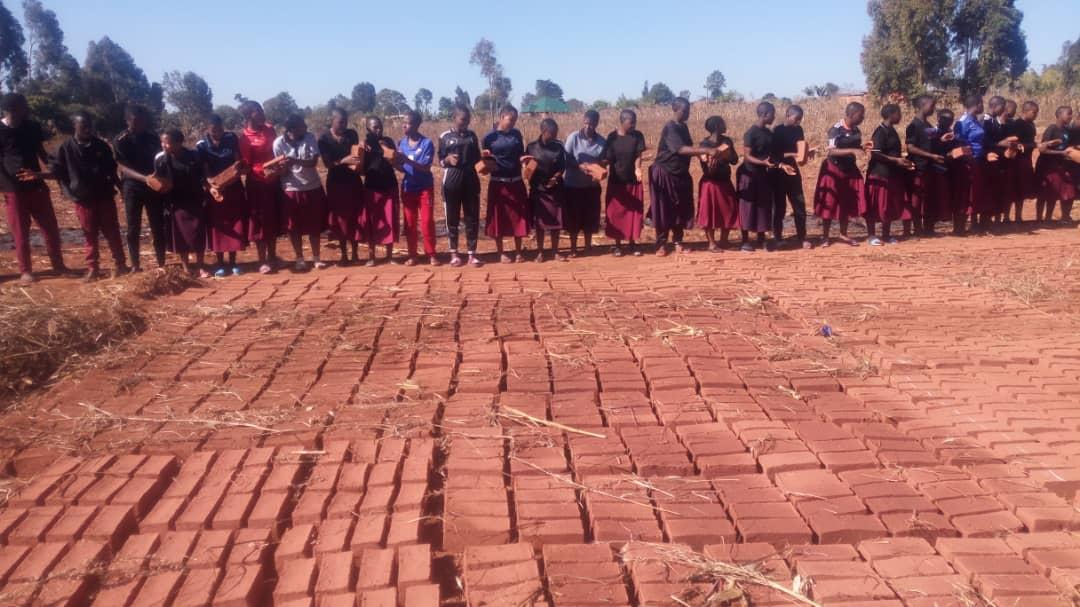 Aug 12, 2019:  Bricks dried and kiln ready