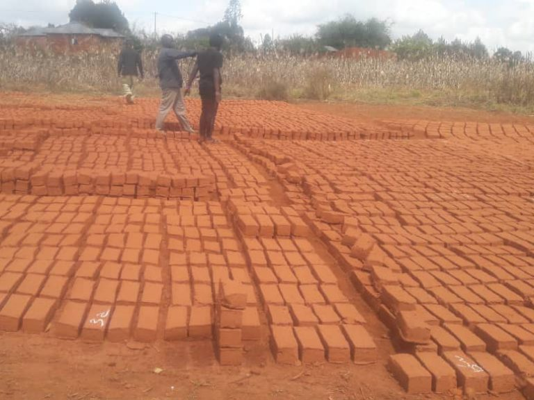 Oct 16: Brick have been formed and laid out to dry