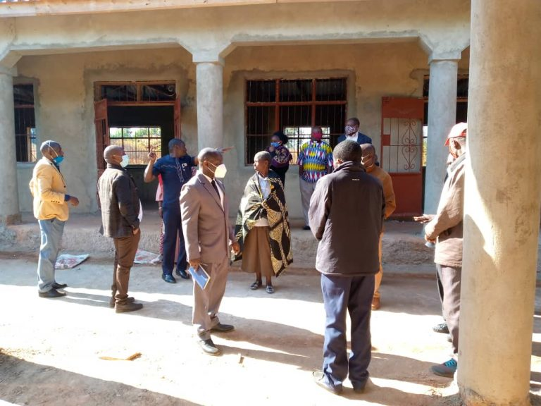 August 13, 2021: Local Africa Exchange Project advisor board inspects construction progress.